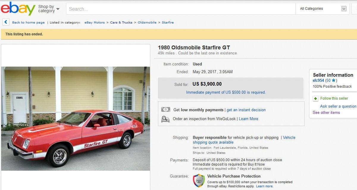 1980 Oldsmobile Starfire ebay